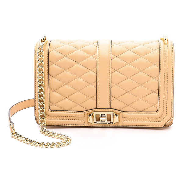 REBECCA MINKOFF Love cross body bag - A Rebecca Minkoff cross body bag in quilted leather. A slim