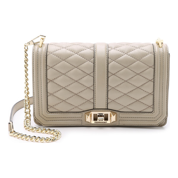 REBECCA MINKOFF Love cross body bag - A Rebecca Minkoff cross body bag styled in quilted leather.