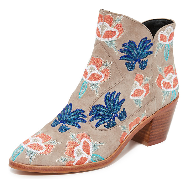 REBECCA MINKOFF lulu too embroidered booties - Bright, floral embroidery adds a charming touch to these...