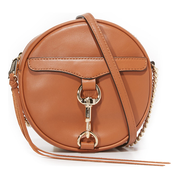 REBECCA MINKOFF mac circle cross body bag - A round Rebecca Minkoff cross body bag in smooth leather....