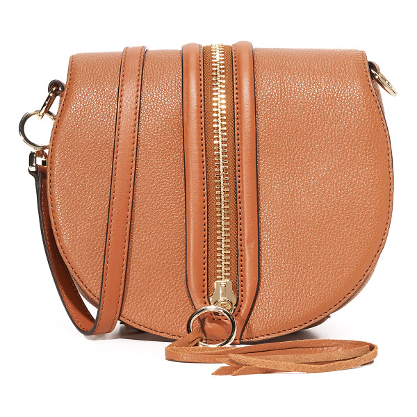 REBECCA MINKOFF Rebecca Minkoff Mara Saddle Bag - A decorative zip punctuates the magnetic top flap of this