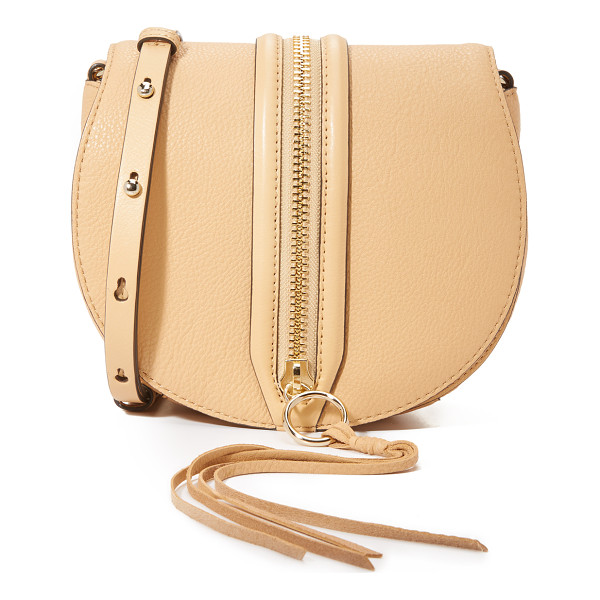 REBECCA MINKOFF Mara saddle bag - A decorative zip punctuates the top flap of this pebbled
