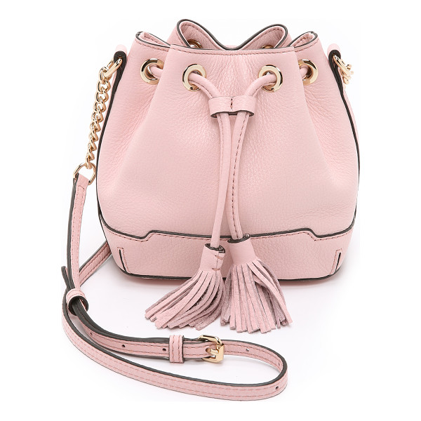 REBECCA MINKOFF Micro lexi bucket bag - A petite Rebecca Minkoff bucket bag in pebbled leather. 2...