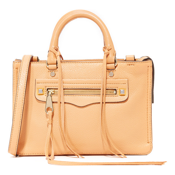 REBECCA MINKOFF micro regan satchel - A scaled-down Rebecca Minkoff satchel in soft, pebbled...