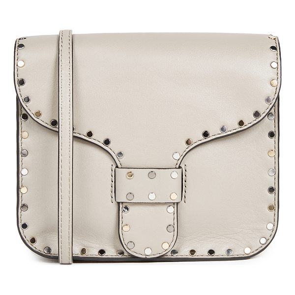 REBECCA MINKOFF midnight mini messenger bag - Flat, mixed-metal studs lend rock-and-roll swagger to this
