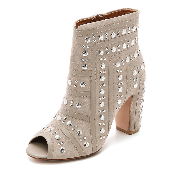 REBECCA MINKOFF Mila studded booties - Leather strips join the studded nubuck sections of these...
