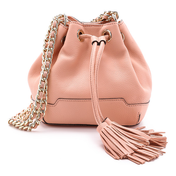 REBECCA MINKOFF Mini lexi bucket bag - Pebbled leather composes this scaled down Rebecca Minkoff