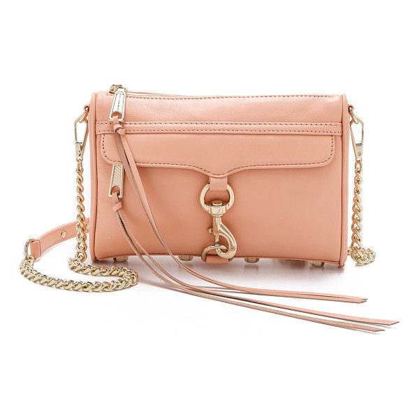 REBECCA MINKOFF Mini mac cross body bag - A Rebecca Minkoff classic, rendered in soft leather. This...
