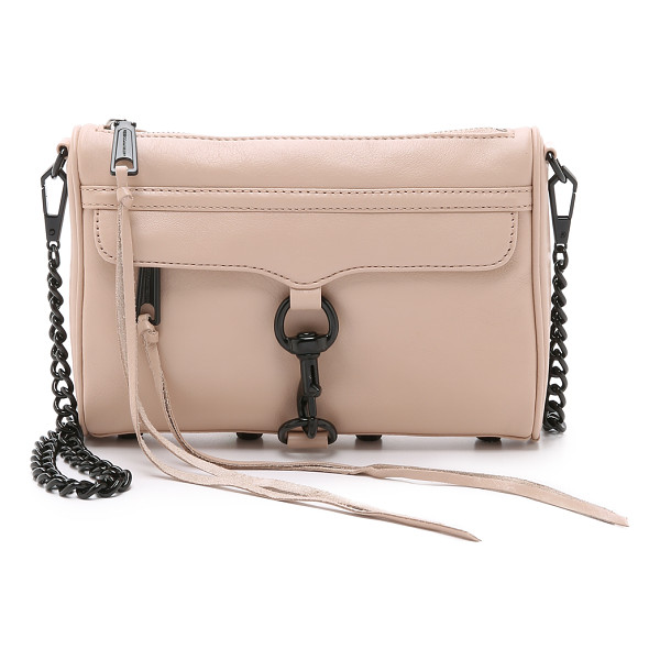 REBECCA MINKOFF Mini mac cross body bag - A timeless Rebecca Minkoff bag in soft leather. Studded...