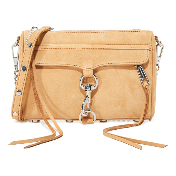 REBECCA MINKOFF mini mac cross body bag - A classic Rebecca Minkoff bag rendered in soft suede.