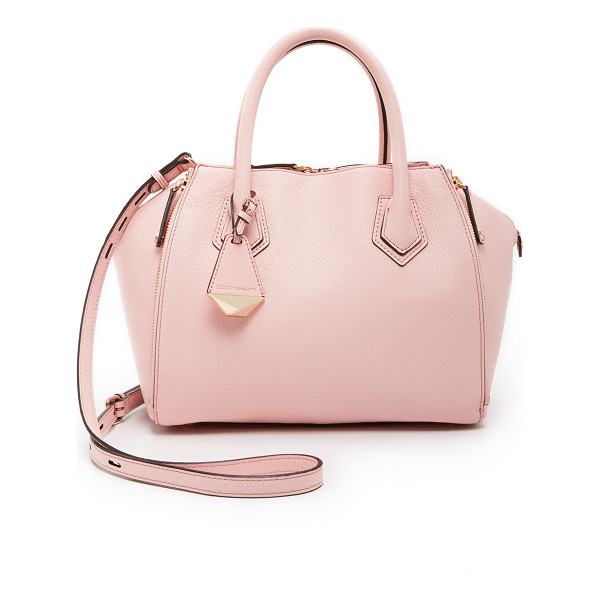 REBECCA MINKOFF Mini perry satchel - Zips adjust the profile of this pebbled leather Rebecca
