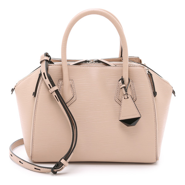 REBECCA MINKOFF Mini perry satchel - Zips adjust the volume of this textured leather Rebecca