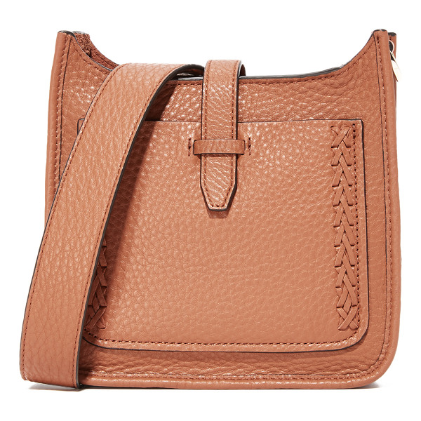 REBECCA MINKOFF mini unlined feed bag - A scaled-down Rebecca Minkoff bag in pebbled leather,