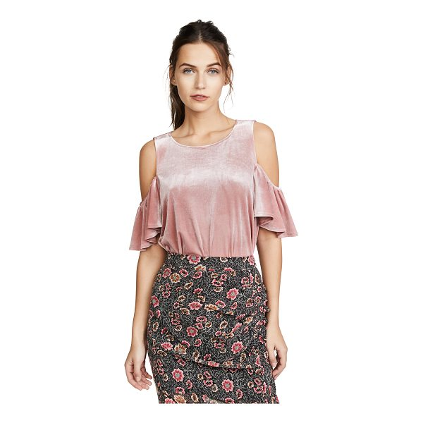 REBECCA MINKOFF monsoon top - A velvet Rebecca Minkoff blouse with shoulder cutouts and...