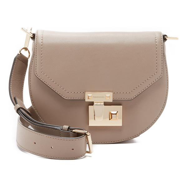REBECCA MINKOFF Paris saddle bag - A polished push lock punctuates the front of this small