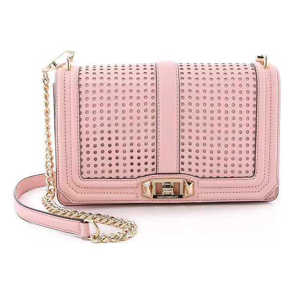 REBECCA MINKOFF Perforated love crossbody bag - A Rebecca Minkoff cross body bag rendered in smooth leather