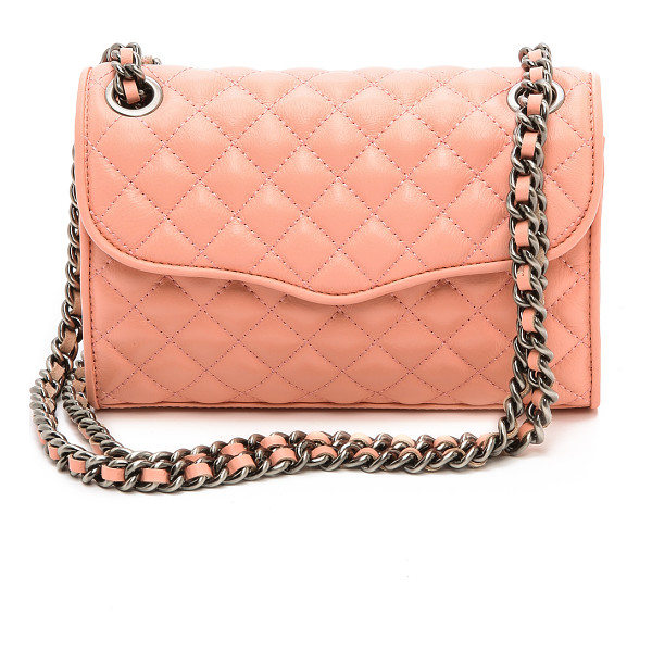REBECCA MINKOFF Quilted mini affair cross body bag - Rich quilted leather puts a luxurious finish on a petite...
