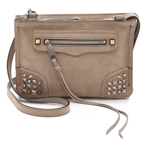 REBECCA MINKOFF Regan cross body bag - A nubuck Rebecca Minkoff cross body bag, accented with
