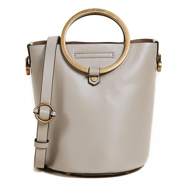 REBECCA MINKOFF ring bucket bag - Antiqued metal rings form the handles of this petite...