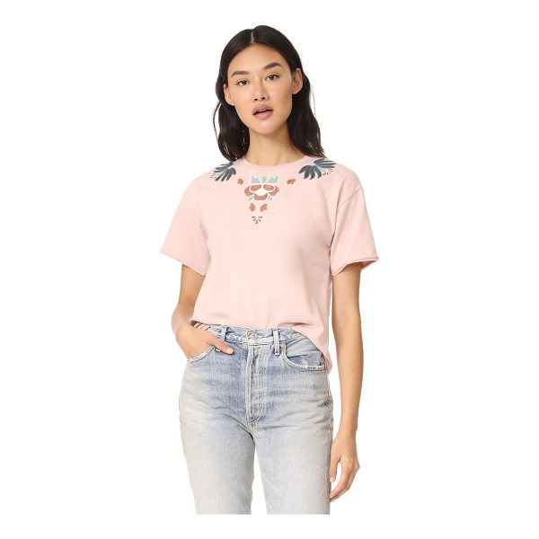 REBECCA MINKOFF ronnie tee with embroidery - Embroidered appliqués detail this Rebecca Minkoff tee. Worn...