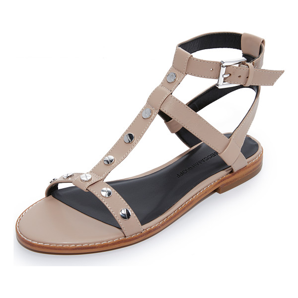 REBECCA MINKOFF sandy sandals - Polished screw-head studs add an industrial touch to these
