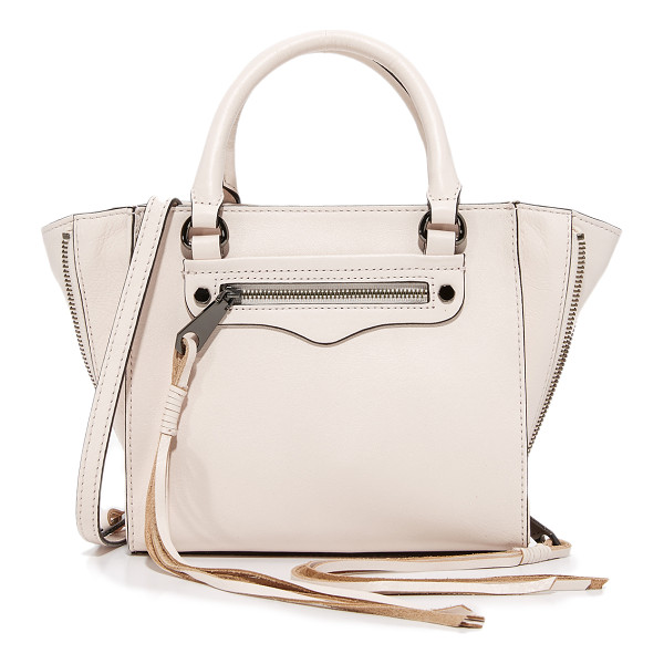 REBECCA MINKOFF side zip mini regan tote - Side zips with long pulls expand the depth of this petite