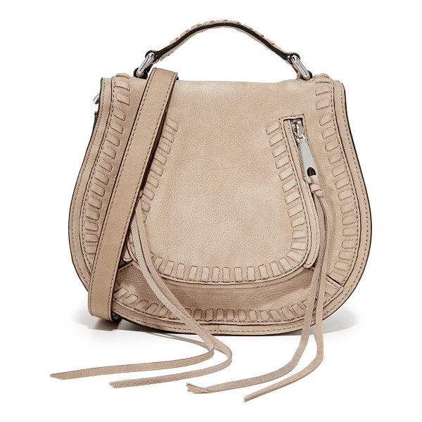 REBECCA MINKOFF small vanity saddle bag - A soft leather Rebecca Minkoff bag with whipstitching at...