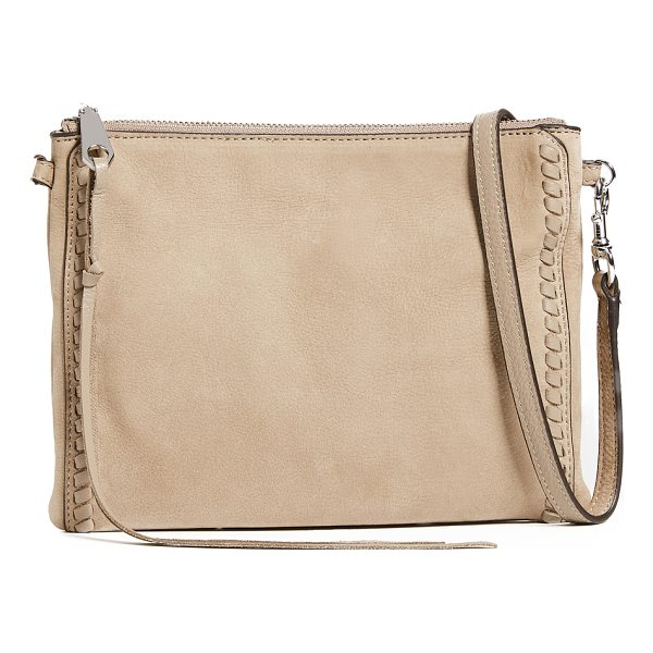 REBECCA MINKOFF vanity jon cross body bag - A slim Rebecca Minkoff bag with whipstitching trim at the...