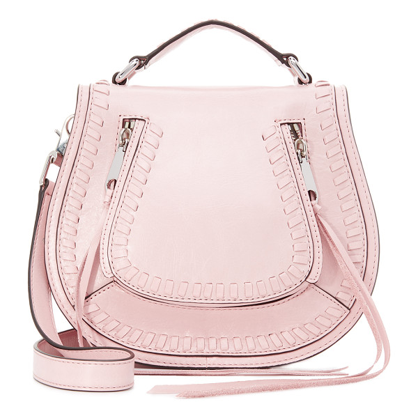 REBECCA MINKOFF vanity saddle bag - A soft leather Rebecca Minkoff bag with whipstitching at...