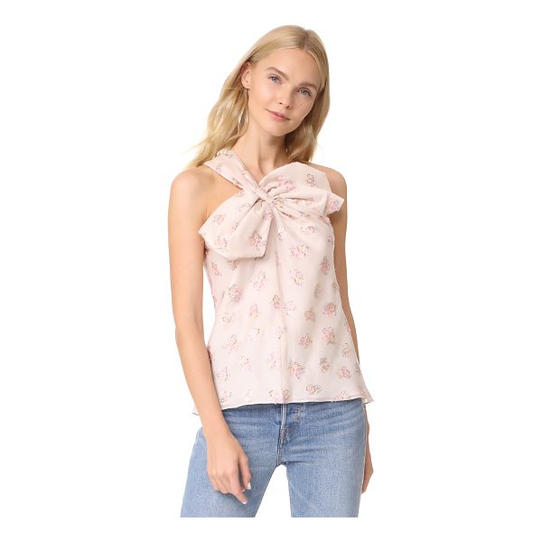 REBECCA TAYLOR floral jacquard bow top - Metallic threads add sparkle to this one-shoulder Rebecca...