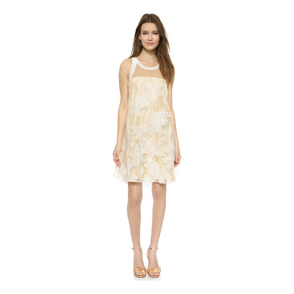 REBECCA TAYLOR Floral organza dress - An elegant Rebecca Taylor shift dress with a structured...