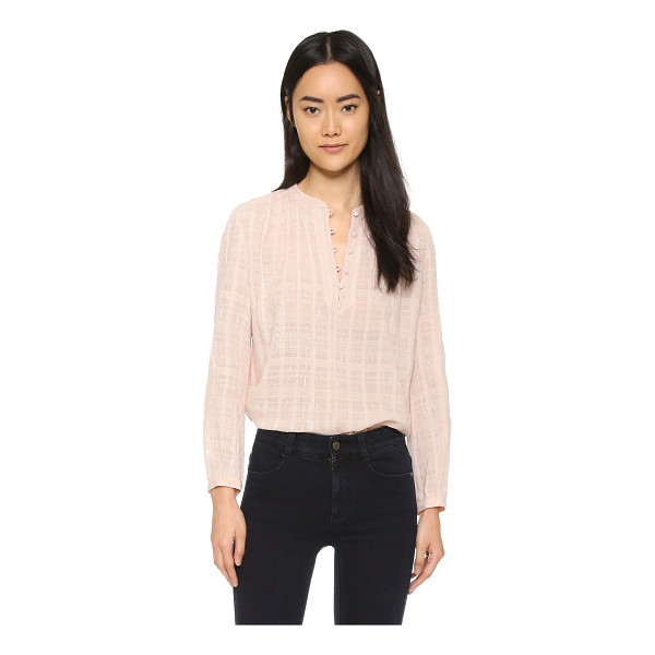 REBECCA TAYLOR Long sleeve top - A feminine Rebecca Taylor top with thin metallic stripes...