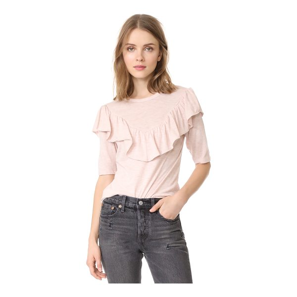 REBECCA TAYLOR melange jersey tee - This soft jersey Rebecca Taylor top is updated with a...