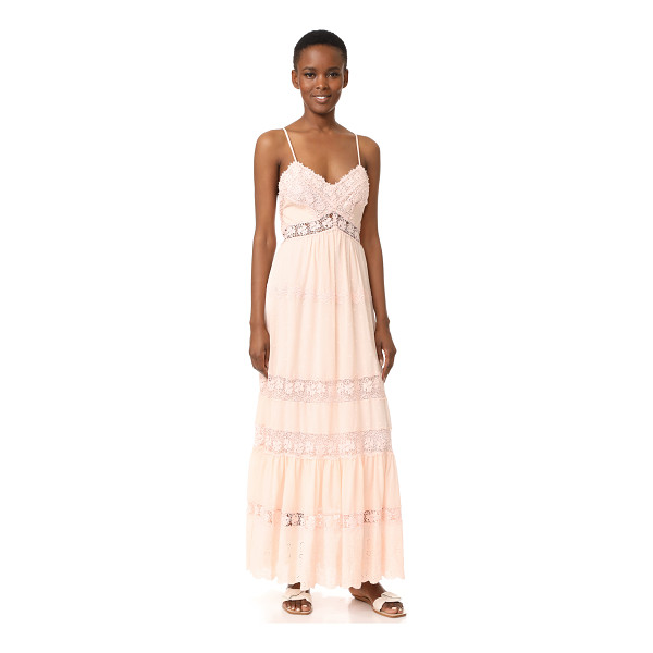 REBECCA TAYLOR sleeveless eyelet dress - Lace insets and tonal embroidery bring delicate detail to...