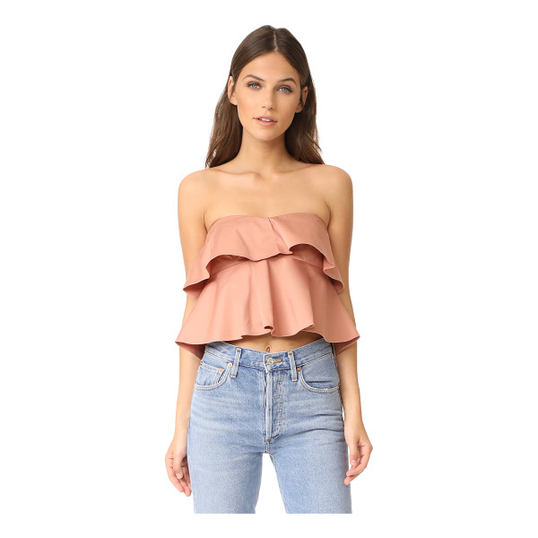 REBECCA TAYLOR strapless ruffle top - Layered ruffles bring soft volume to this flirty, feminine...