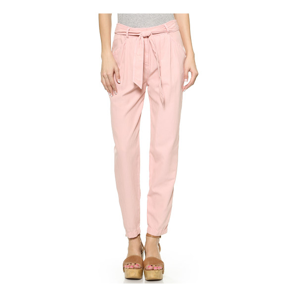 REBECCA TAYLOR Twill tie waist pants - Slouchy Rebecca Taylor pants in a creamy blend of natural...