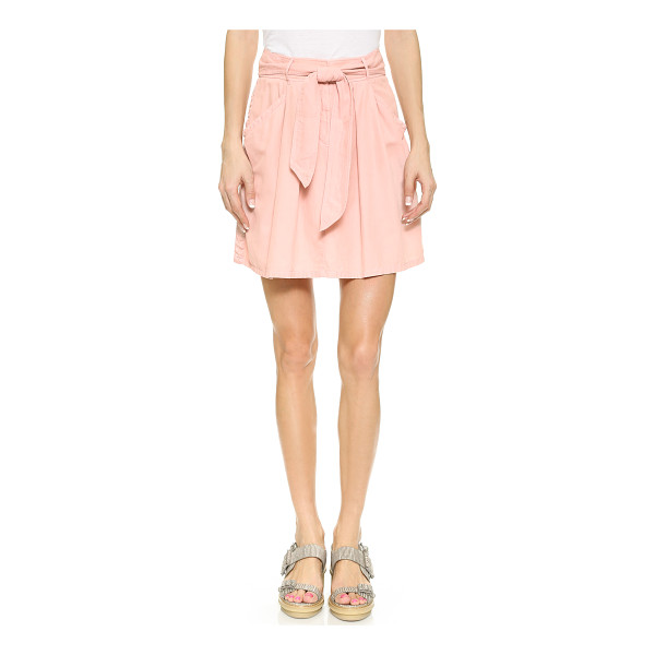 REBECCA TAYLOR Twill tie waist skirt - A Rebecca Taylor miniskirt in a creamy blend of natural...