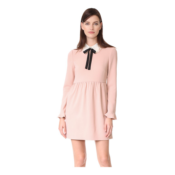 RED VALENTINO collared dress - A charming RED Valentino dress with contrast ties at the...