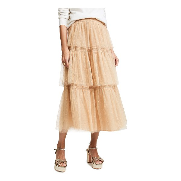 RED VALENTINO point d'esprit tulle skirt - A tiered RED Valentino skirt with a romantic look, rendered...