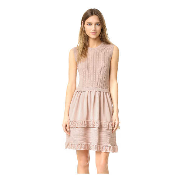 RED VALENTINO Pointelle ruffle dress - A charming RED Valentino tank dress with delicate pointelle...