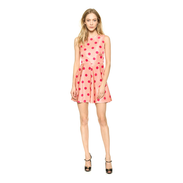 RED VALENTINO Polka dot printed dress - Bright polka dots add a cheery touch to a fit and flare RED...