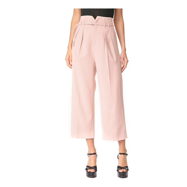 RED VALENTINO tie trousers - Pleats accentuate the wide-leg style of these cropped RED...