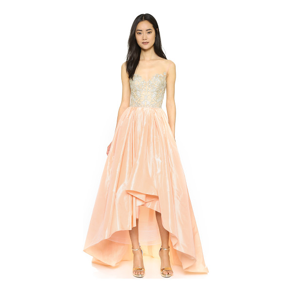 REEM ACRA Taffeta high-low gown - This exquisite Reem Acra gown is intricately detailed with...