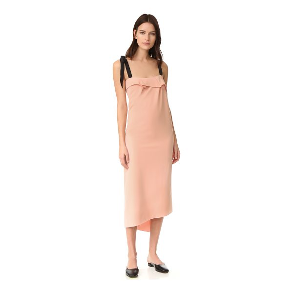 REJINA PYO agnes dress - NOTE: Sizes listed are UK. A draped overlay and split,...