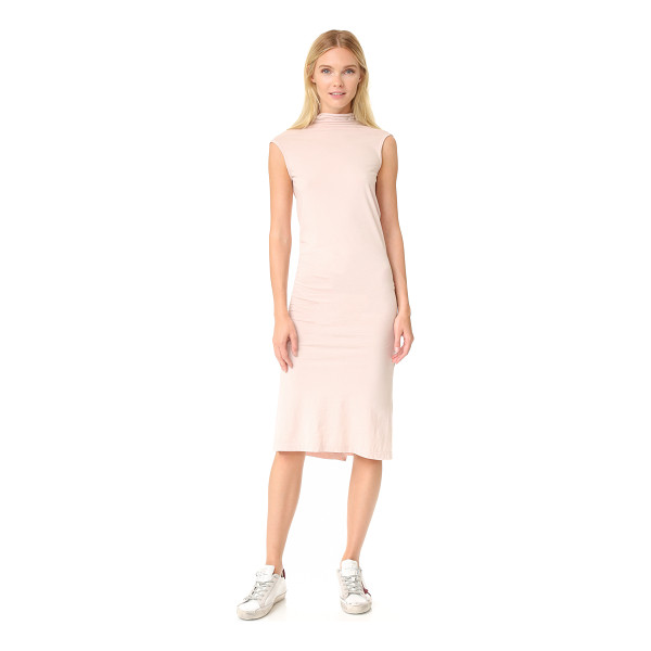 RICK OWENS DRKSHDW marella tunic - A sleek, draped Rick Owens DRKSHDW sheath dress with a deep...