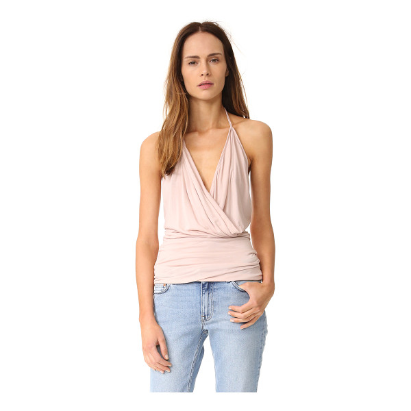 RICK OWENS LILIES halter top - A draped Rick Owens Lilies halter top in tissue weight...
