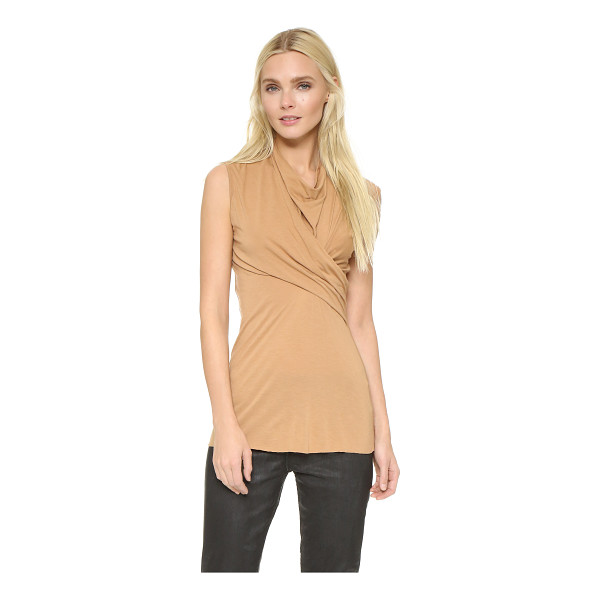 RICK OWENS LILIES Sleeveless crossover top - Ruched panels create an edgy twist effect on this Rick...
