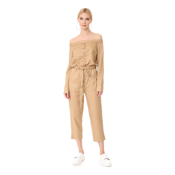 ROBERT RODRIGUEZ off shoulder jumpsuit - A crisp, lightweight Robert Rodriguez jumpsuit in an...