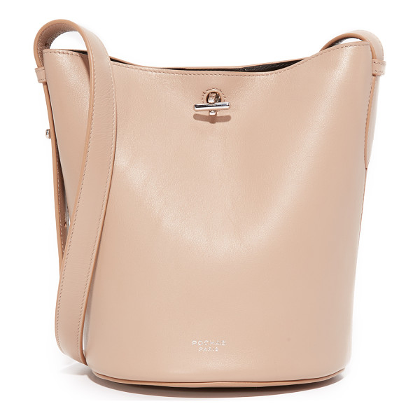 ROCHAS bucket bag - A minimalist Rochas bucket bag in supple leather. A toggle...
