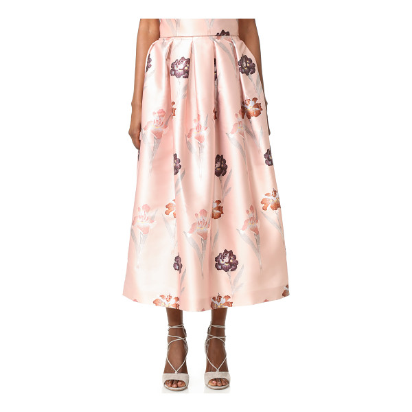 ROCHAS Floral Skirt - Luxe floral satin brings feminine style to this Rochas